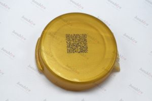 marking on plastic bottle cap